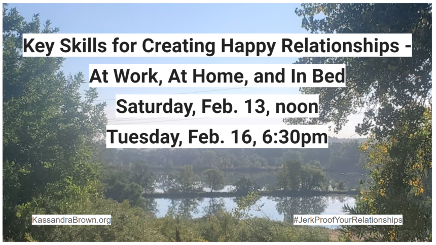 Key Skills to Create Happy Relationships – 2 Upcoming Workshops