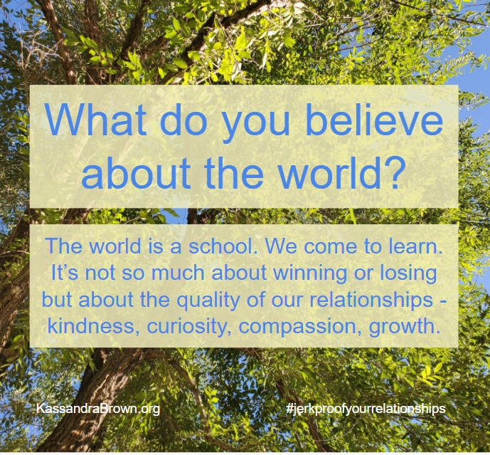 What you believe creates the world.